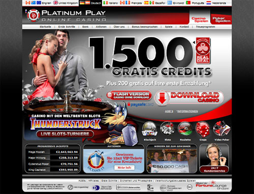 Platinum play online casino for canadian players to enjoy casino games.